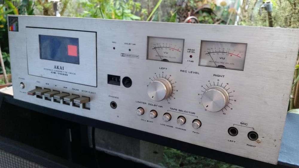 Deck Cassettera Akai Cs705d Japones funcionando Ver