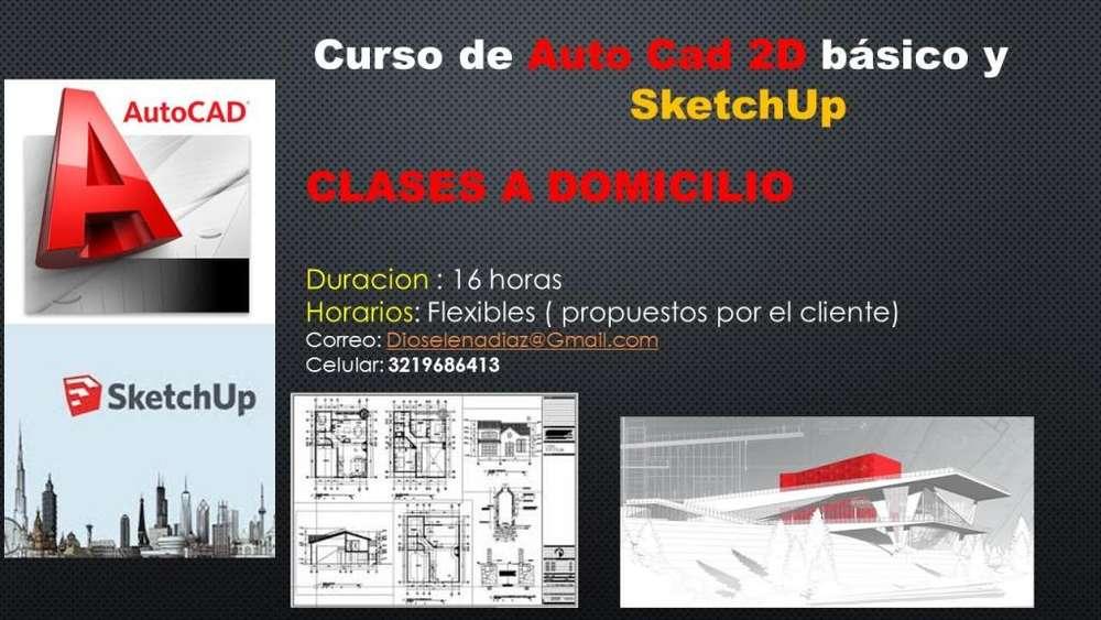 Curso Autocad 2d y sketchup a Domicilio