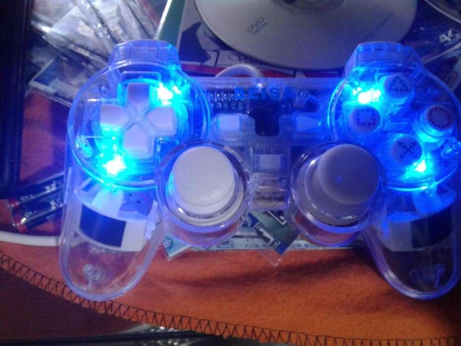 Joystick Analógico Ps2 Play Station 2 Transparente Con Luz