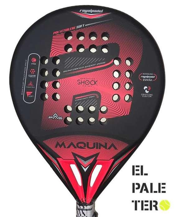 Paleta Padel Royal / Maquina Black Cubre Protectorbolsa