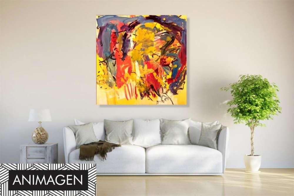 Cuadro decorativo tonos amarillos 2492