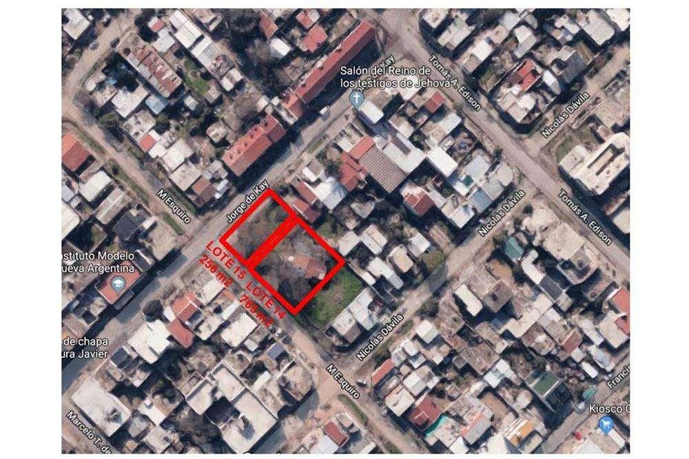 VENTA TERRENO Nº 14 DE 765 m² EN RAFAEL CASTILLO