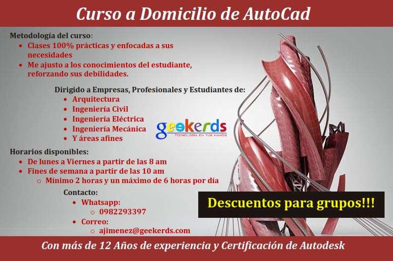 Clases a Domicilio de <strong>autocad</strong> 2018