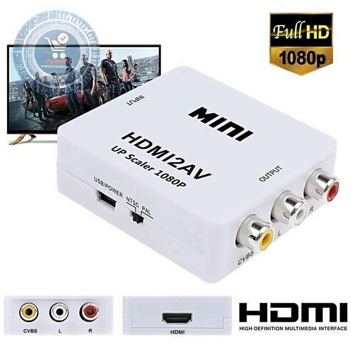 MINI HDMI - adaptador 1080 p, TV Antiguo