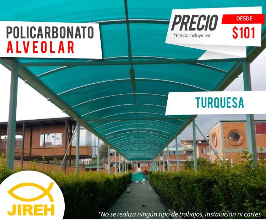 Policarbonato Jireh Turquesa 6mm en Guayaquil, Techos, Alucobond, Acrílico, Cielo raso PVC