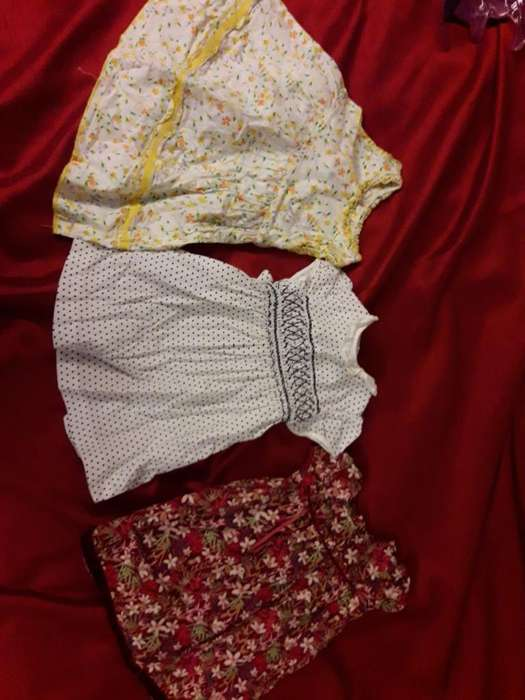 Tres Vestidos Epk Talla 12 Meses