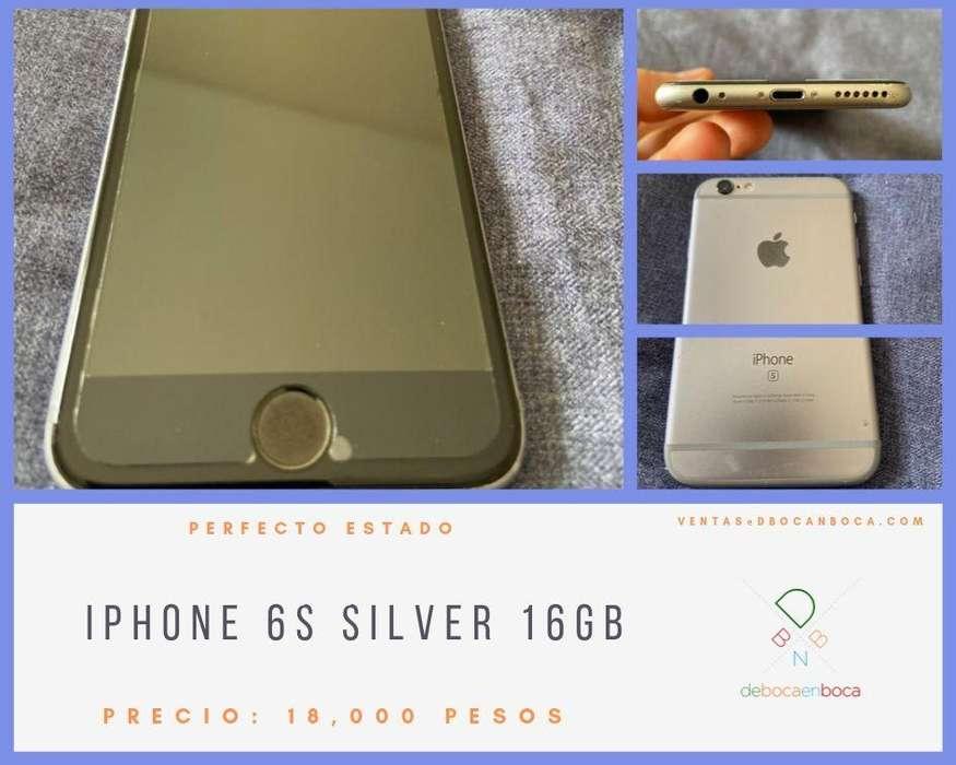 IPHONE 6S SILVER 16GB IMPECABLE ESTADO.