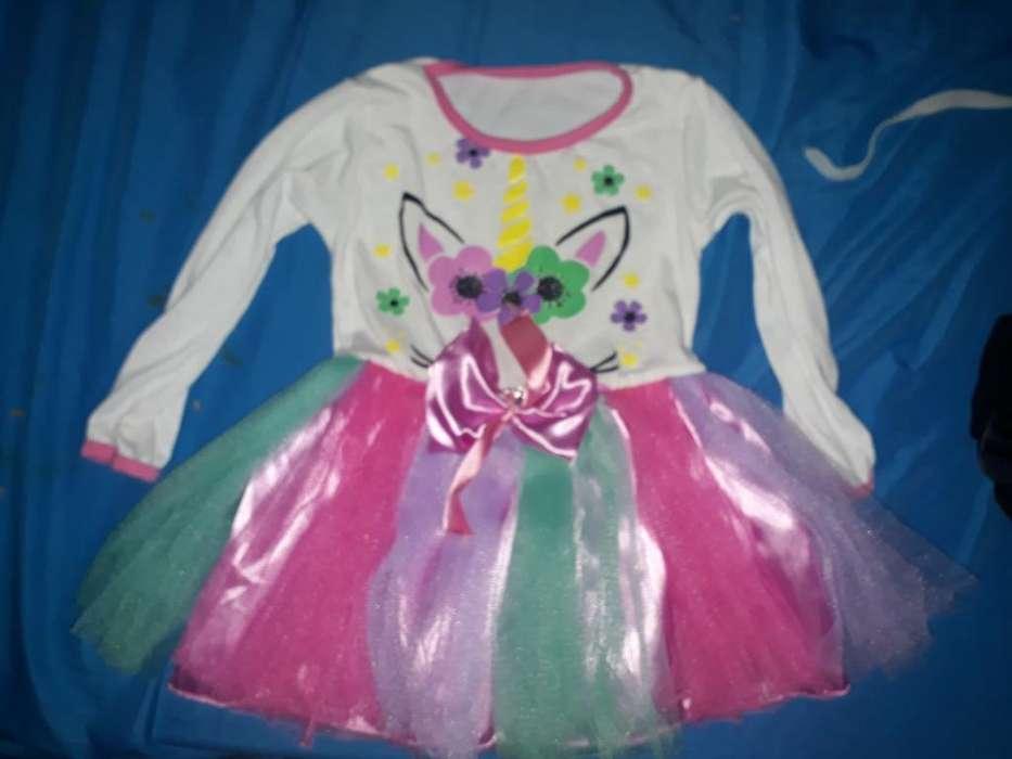 Vendo Vestido de Unicornio Talle 2