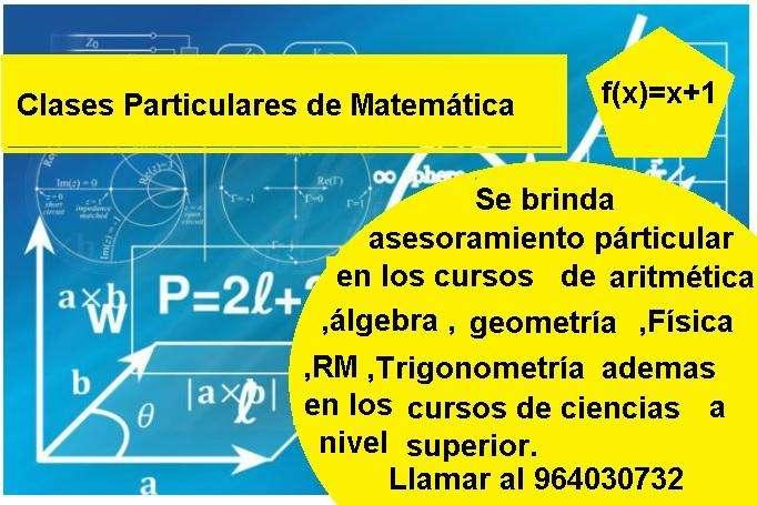 CLASES PARTICULARES DE MATEMÁTICA EN HUANCAYO!!!