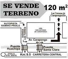 Vendo Terreno Urbanizacion Caraponguillo 3ra etapa 25,000