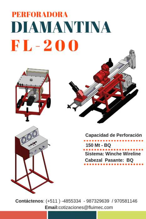 PERFORADORA DIAMANTINA FL-200