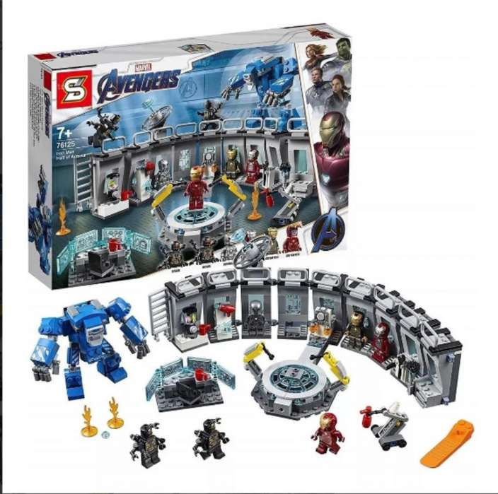 Sy 1332 Sala Armaduras Ironman End Game Marvel Figura Lego