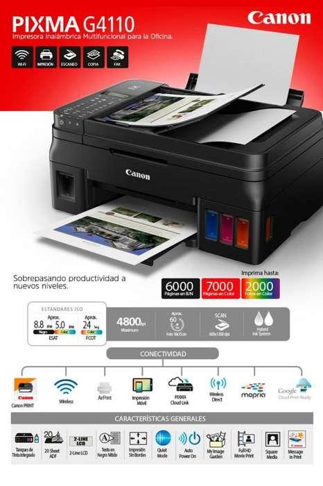 <strong>impresora</strong> CANON G4111 PIXMA MFP WiFi ADF 8,8ppm NE