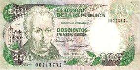 Se vende billete antiguo de 200 pesos oro