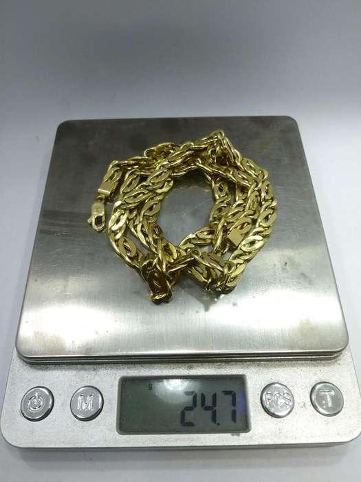 Cadena de <strong>oro</strong> 18kt 24.7gr Igual a Nueva