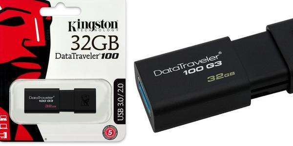 Memoria Usb 3.0 Kingston 32gb Dt100 G3 Retráctil - Delivery