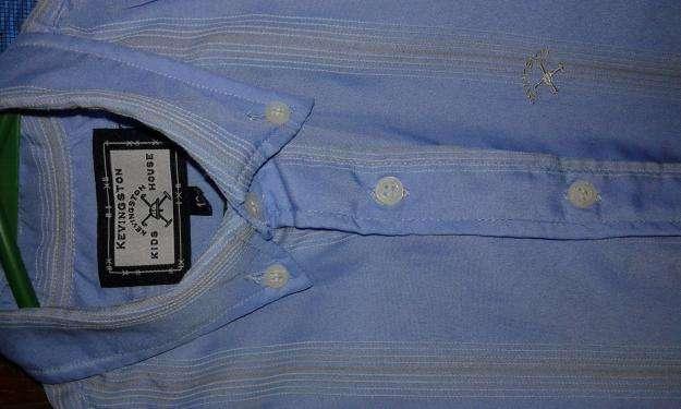 Oferta camisa kevingston talle 12 celeste con rayas. 1 dia de uso.