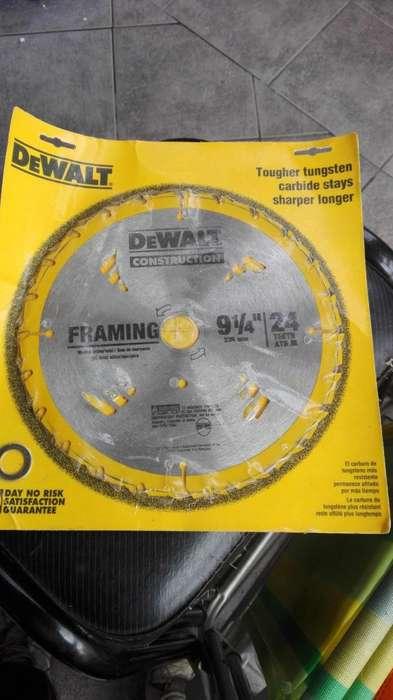 hoja sierra circular para dewalt de 24 dientes de widia, sin uso
