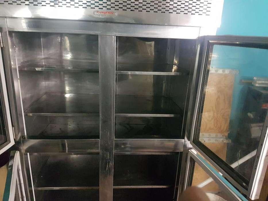 Refrigerador 4 Tapas Acero Inoxidable