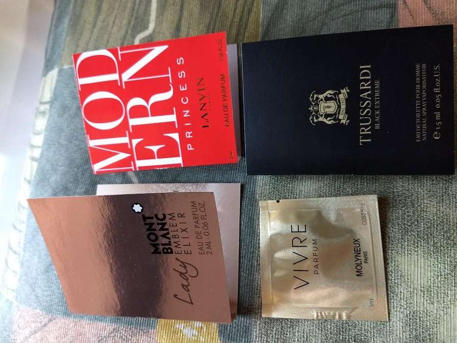 Perfumes en Plumitas Importadas X 4