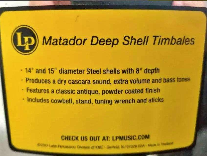 Timbales LP Matador modelo m257