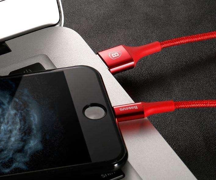 Cable Reversible Micro Usb Glow Led Carga Rápida Datos 1m