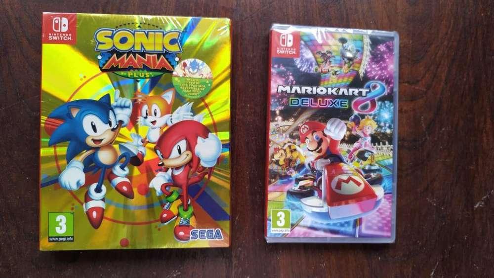 Sonic Mania Plus Y Mario Kart 8, Nuevos