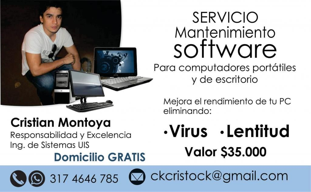 Servicio mantenimiento de computadores