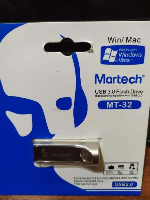 MEMORIA USB 3.0 ORIGINAL INCLUYE MUSICA 1.000 canciones CON GARANTIA