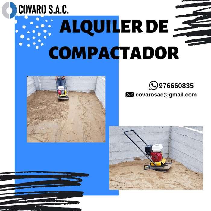 Alquiler de compactador - plancha compactadora