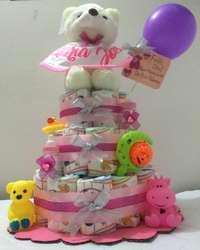 Regalo para Bebe, Torta de Pañales, Baby Shower, Bautizo, nacimiento, cumpleaños