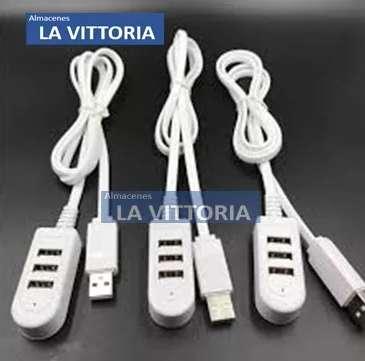 Cable USB 3 Puertos Para Carga Y Transferencia De Datos