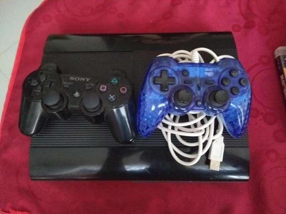 Playstation 3 250 GB 2 controles 9 juegos cable HDMI
