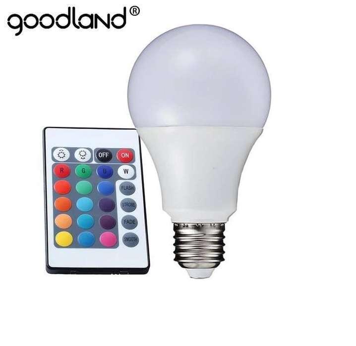 LAMPARA LED RGBW 12W CON CONTROL REMOTO