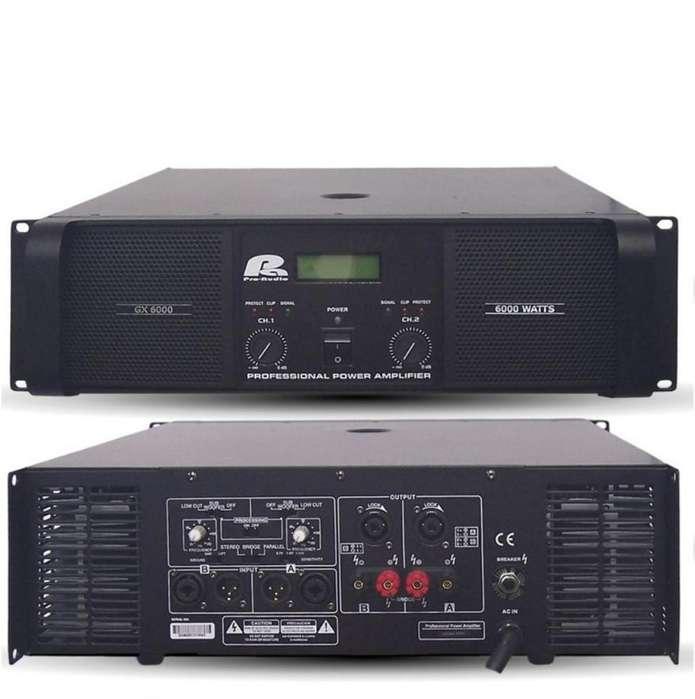 Amplificador Pro Audio Gx6000