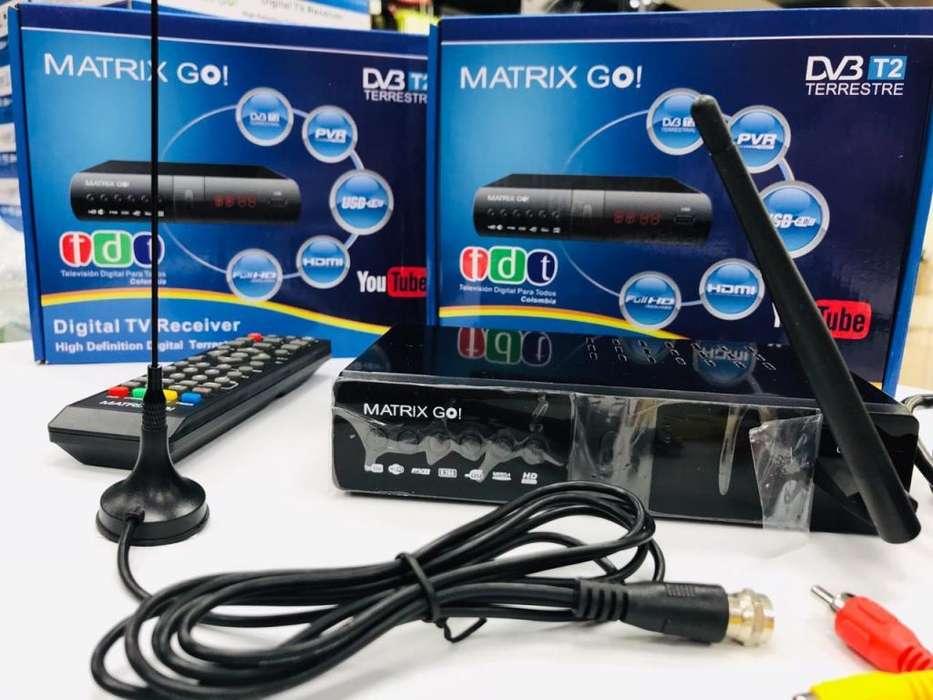 TDT con YOUTUBE marca MATRIX-GO Conexión WiFi