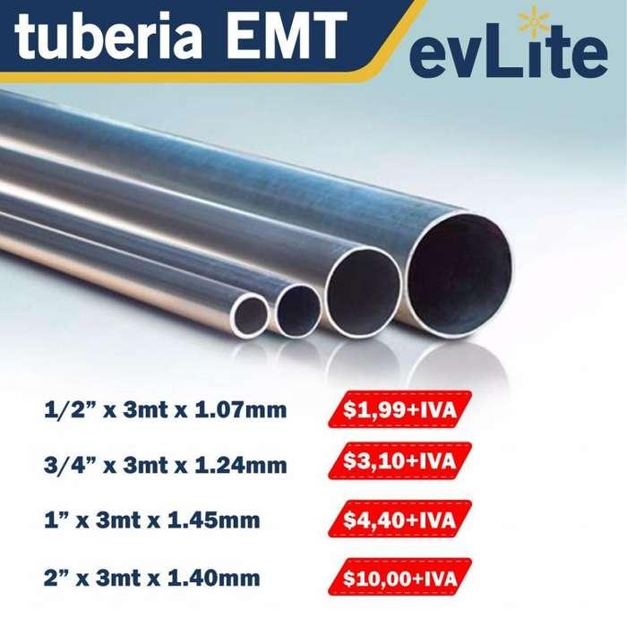 TUBERIA EMT. TUBERIA ELECTRICA METALICA.TUBO ELECTRICO. 1/2