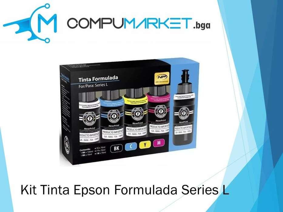 Kit Tinta Epson formulada series L nuevo y facturado