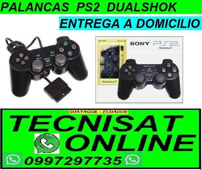 PALANCA MANDO CONTROL PLAY STATION 2 PS2 ALAMBRICAS E INALAMBRICAS DE COLOR NEGRO Y TRANSPARENTE