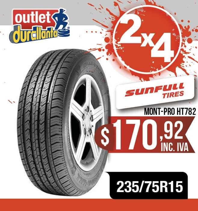 <strong>llantas</strong> 235/75R15 SUNFULL MONT-PRO HT782 LUV D-MAX BT-50 KORANDO A230 Montero Sport 4WD KORANDO