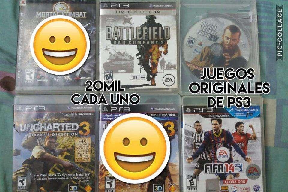 juegos originales de ps3 a 20mil cada uno precio fijo