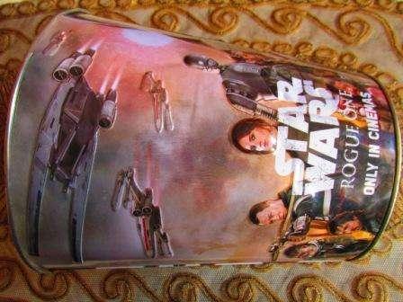 JARRON DE STARS WAR DE LATA GRANDE DE 3 LITROS ...PARA COLECCION.