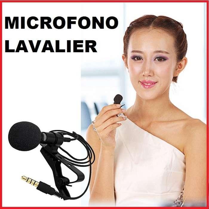 MICROFONO DE SOLAPA PARA CELULARES TIPO LAVALIER TRRS