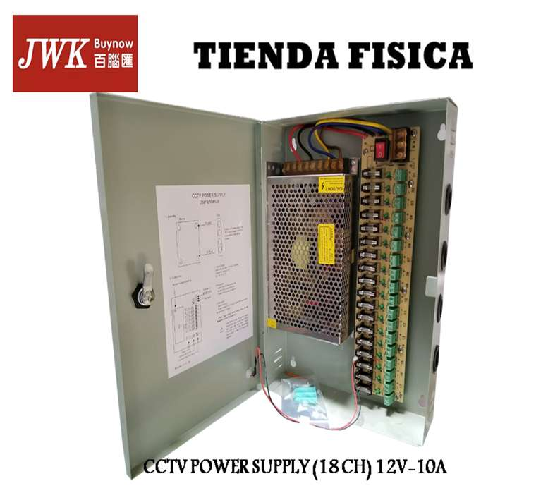Cctv Power Supply Fuente De Poder 18 Salidas 20 Amp Jwk