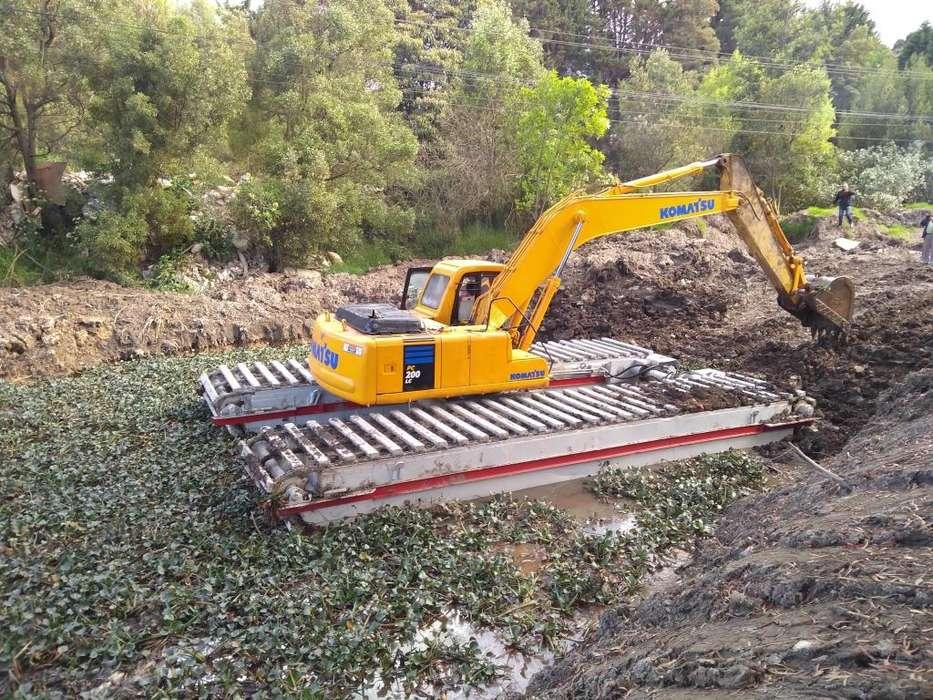 Alquiler Excavadora anfibia excelente equipo