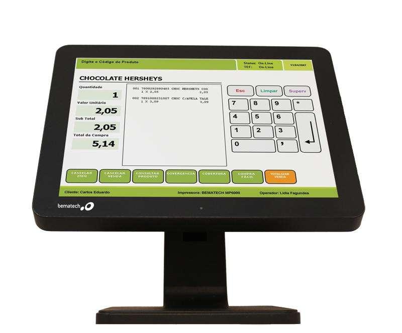 Monitor Touch Pantalla Tactil punto de venta 15 pulgadas Bematech POS Caja
