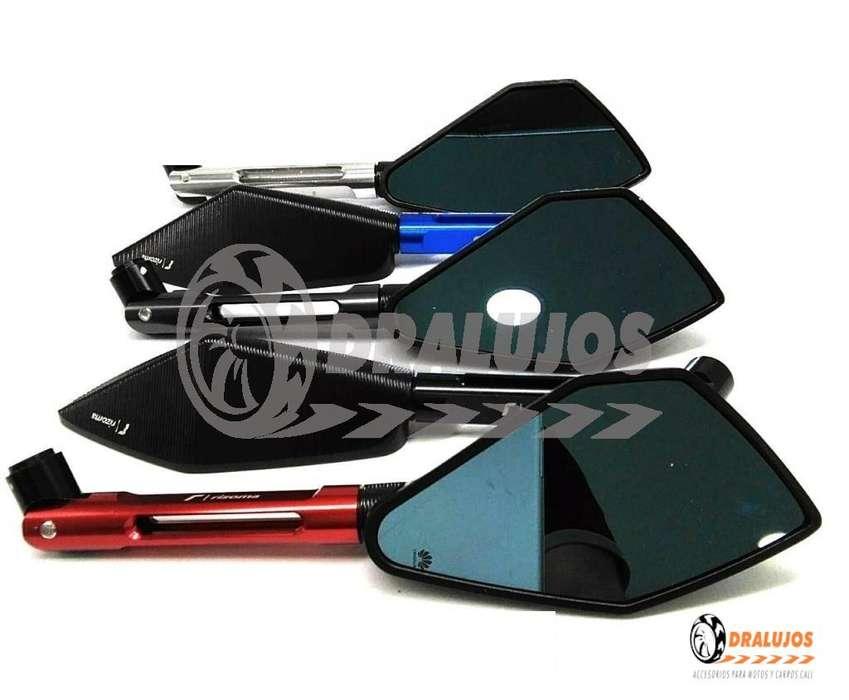 2 Espejos Rizoma Deluxe En Aluminio (universales) Alta Gama SKU: ESCI-01