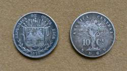 Moneda de 2 céntimos Costa Rica 1903