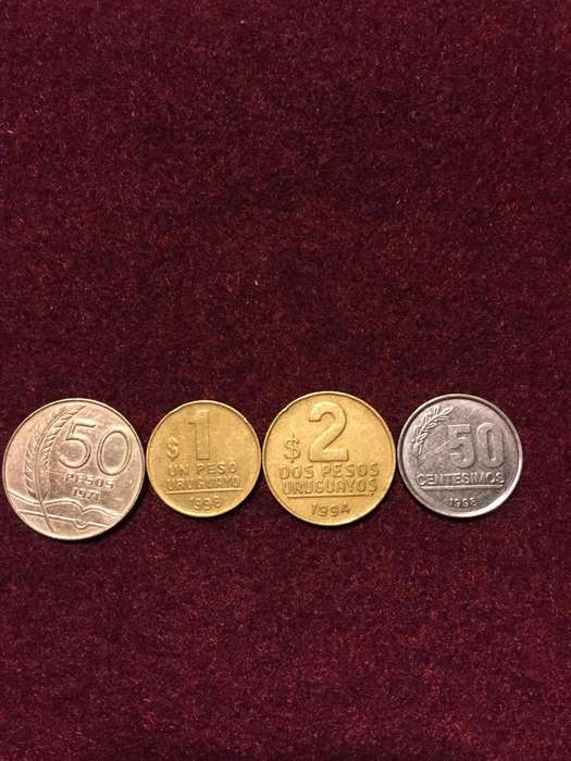 Lote de 4 Monedas Uruguayas