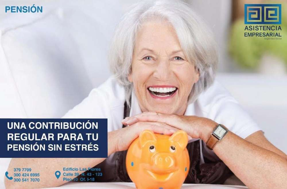 Ofrecemos afiliación a pensiones LLAMA HOY 300 424 6995